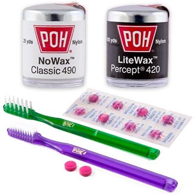 Бесплатные зубные щетки, зубные нити