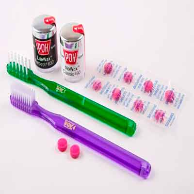 Poh бесплатно раздает зубную щетку и нить