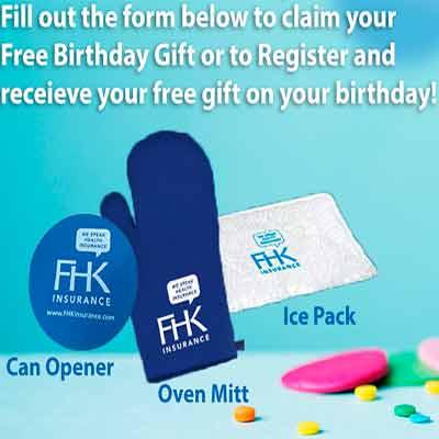 Выбирай бесплатный подарок на день рождение