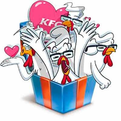 Стикеры для VK от KFC