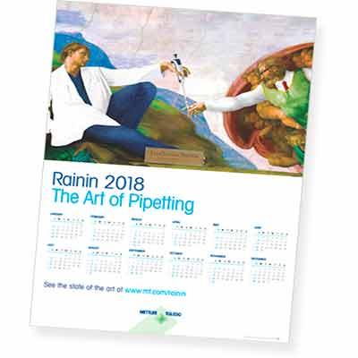 Бесплатный календарь Rainin на 2018 год.