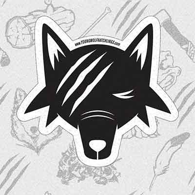 Бесплатные наклейки Young Wolf Hatchlings