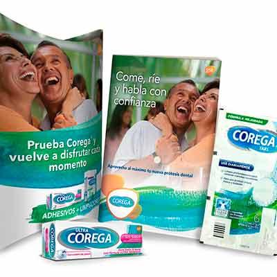 Бесплатные образцы продуктов Corega.