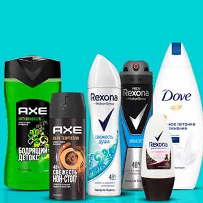 Денежные призы за покупку Rexona, Axe и Dove в магазине Перекрёсток