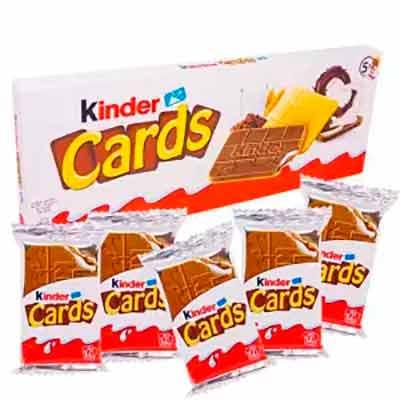Бесплатные Бисквитные Вафли Kinder Cards