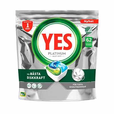 Бесплатные Капсулы для Посудомоечной Машины Yes Platinum