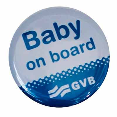 Бесплатный Значёк «Baby on board»